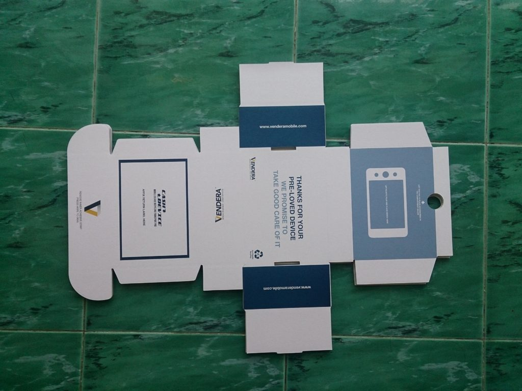 double sided printing E flute corrugated box