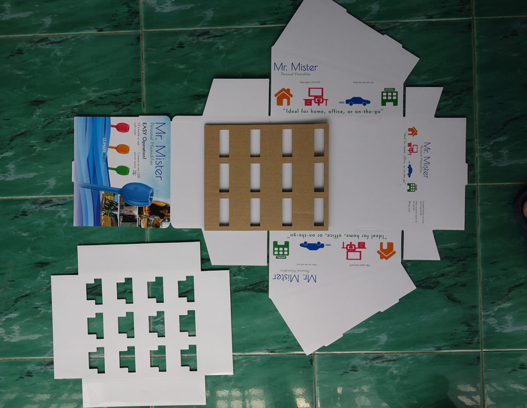 corrugated inserts for pop display box