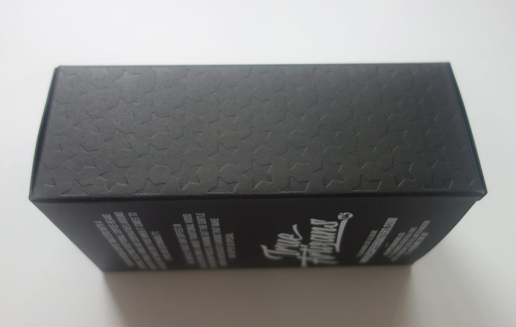 embossing and debossing for the custom black paper box