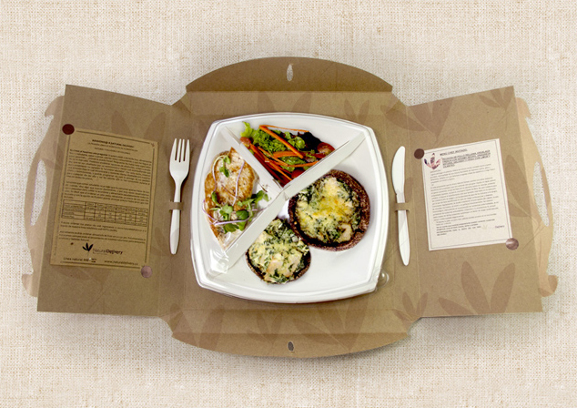 take out food paper packaging design