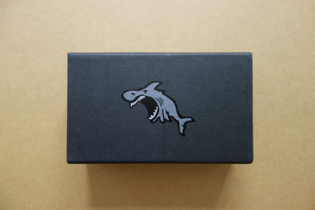 matte black slide rigid box with spot uv