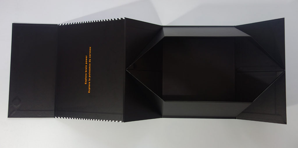 foldable collapsible rigid paper box