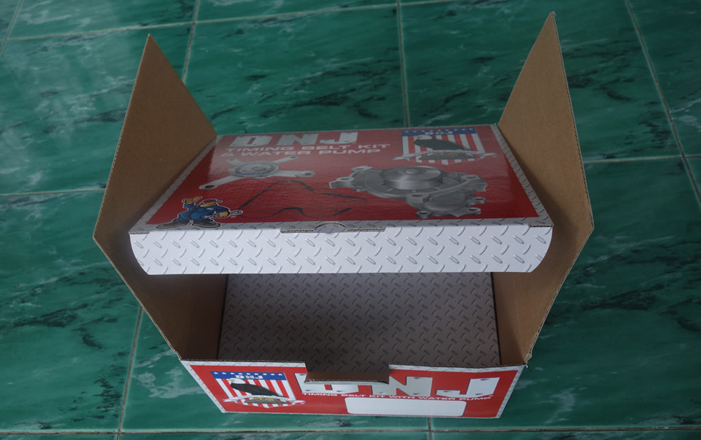 E flute corrugated printed box with cardboard insert