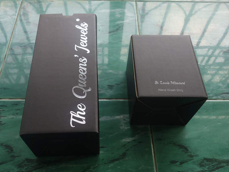 custom paper box for wine glass packaging
