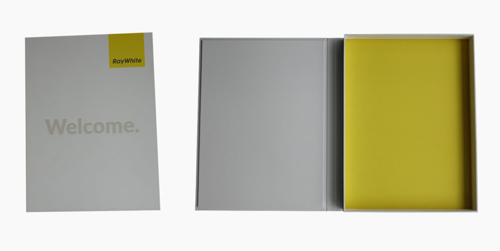 Custom paper presentation box