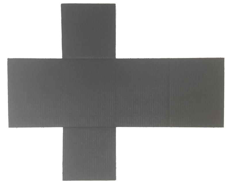 black color E flute corrugated board insert