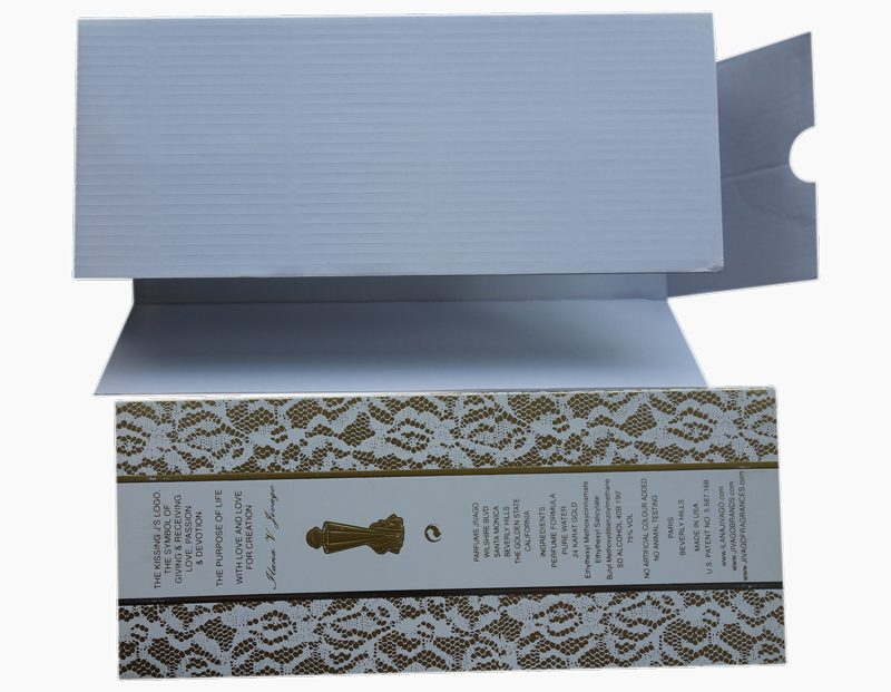 white color E flute corrugated board insert