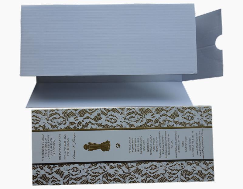 white color E flute corrugated board insert