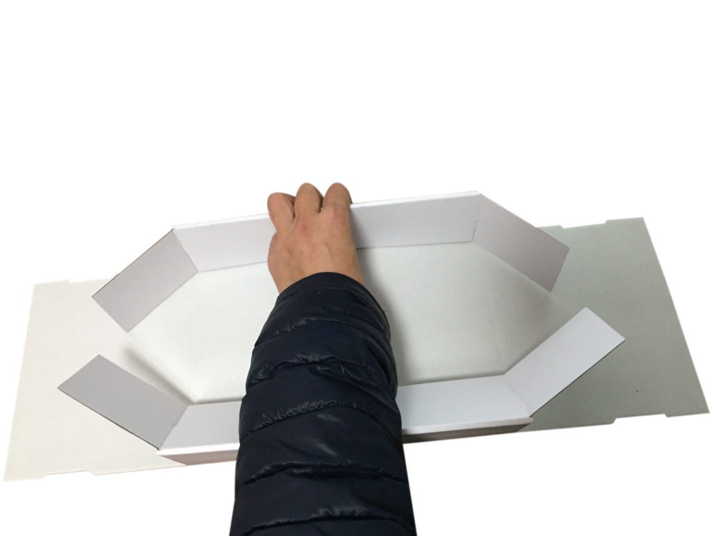 Corrugated Paper Box Lift Off Lid Cover and Base Tray