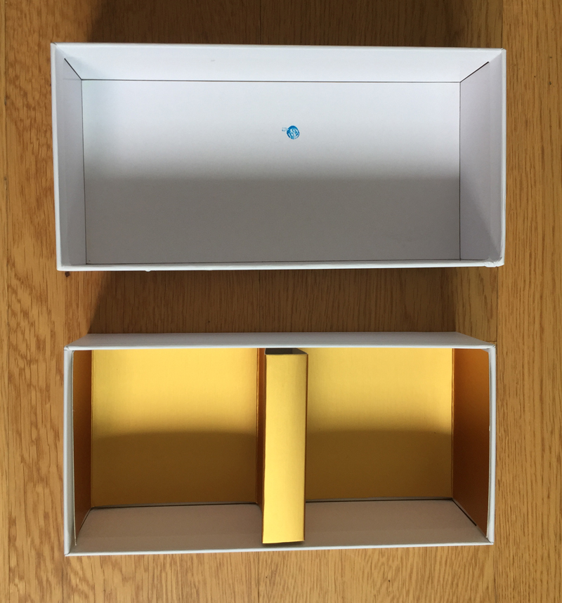 lift off lid paper box with paperboard insert